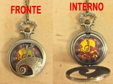 NIGHTMARE BEFORE CHRISTMAS OROLOGIO POCKET WATCH NECKLACE JACK SKELETRON #1