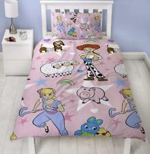 Disney Toy Story 4 Rainbow Single Duvet Quilt Cover Kids Girls Bedding Gift New