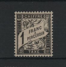 "FRANCE STAMP TIMBRE TAXE YVERT N° 22  "" TYPE DUVAL 1F NOIR ""  NEUF xx LUXE T477"