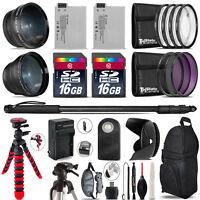Canon Rebel T3i, T2i, T4i, T5i, EOS 600D, 650D, 700D Bundle Kit - 32GB - 58mm