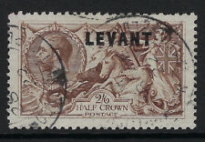 BRITISH LEVANT:1921 Overprint LEVANT on GV  2/6d chocolate-brown SG L21 used
