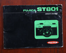 FUJI FUJICA ST801 INSTRUCTION BOOK, SOME STAINS AND WEAR/211556