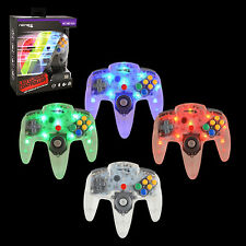 LED RetroLink N64 Style USB Controller for PC & Mac - Red/Green/Blue