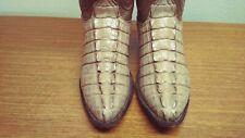 Womens 8 C Lucchese CLASSICS Handmade Brown CROCODILE TAIL CUT Cowboy Boots, USA