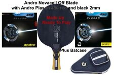 Table Tennis Bat: Andro Novacell Off Blade with Andro Plaxon 450 Rubbers + Case