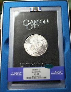 1884-CC GSA Hard pack Morgan dollar, NGC MS64 CAC Approved