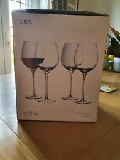 LSA International 'WINE' Collection Handmade 750ml Red Wine Glasses x4 Boxed