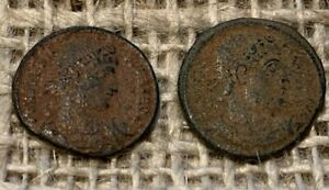 2 x Late AE Roman Coins UNRESEARCHED    L75
