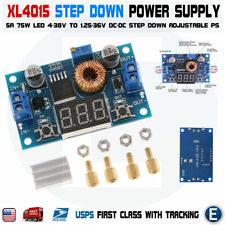 Xl4015 5A High power supply 75W Dc-Dc adjustable step-down module+Led Voltmeter