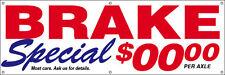 2x6 ft Vinyl Banner Sign CUSTOM- auto repair BRAKE SPECIAL (add your price)