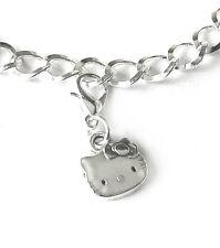 Armband Charms Anhänger Katze Damen Bettelarmband Mode silberfarben 19 cm