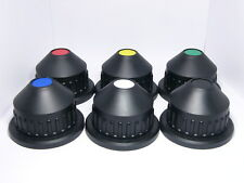 """Six (6) Lens caps for PL-Mount with color labels. Rear Cover. Size:54mm/2.13"""" H"""
