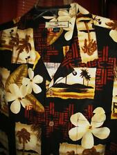 TOMMY BAHAMA HAWAIIAN SHIRT  TROPICAL FLOWERS LEAVES CASUAL!SIZE XL!100% SILK !