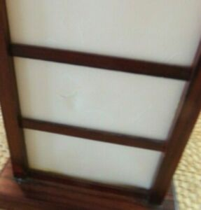 MID CENTURY TOWER TABLE LAMP WOOD/PARCHMENT