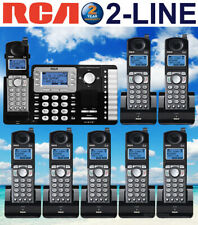 RCA 25252 DECT 6.0 2-LINE 8 CORDLESS PHONES WITH 2-LINE ANSWERING MACHINE NEW