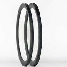 Sale! Premium Road Bike 45mm Depth 700C Carbon Rim Clincher Tubeless 1PAIR