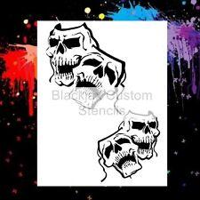 Skull Masks Set Airbrush Stencil,Template