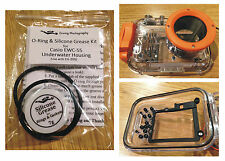 Spare O-ring & Silicone Grease Kit for Casio EWC-55 Diving Underwater Housing