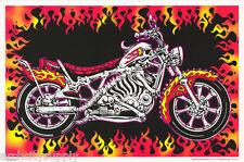 POSTER: MOTORBONES - SKELETON MOTORCYCLE - BLACKLIGHT - #32685 RP80 O