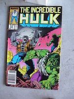 1987 Marvel Comic Book The Incredible Hulk #332