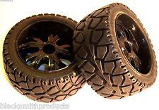 Ruote, cerchi e pneumatici neri pneumatici per modellini radiocomandati