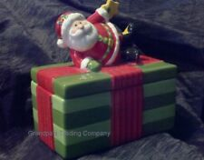 Fitz and Floyd Goumet Santa Lidded Box, Holiday Folk