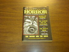 MAGAZINE OF HORROR #27 The Bizarre,The Frightening,The Gruesome 1969