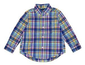 Polo Ralph Lauren Boys Plaid Classic Fit Long Sleeve Shirt Size L 14-16 BNWT