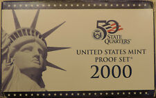 2000-S 10 coin Proof set with box and COA all coins deep cameo DCAM