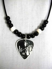 1956 ELVIS PRESLEY ONSTAGE BLACK & WHITE PHOTO GUITAR PICK PENDANT ADJ NECKLACE