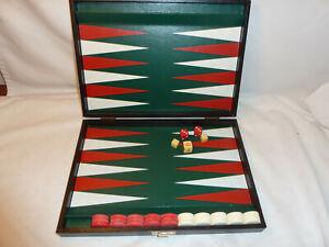 Vintage Wooden Cased, Swedish, Design Philipp Backgammon Set, Board Game
