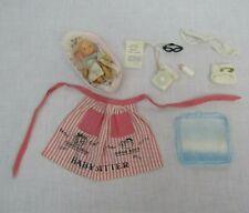 VTG Barbie Babysitter #953 Apron Baby Bassinet Phone Blanket Diaper Glasses
