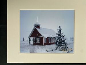 11 X 14 Matted Photo  - signed by photographer Marie Whitton- 1 ROOM SCHOOL