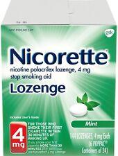 Nicorette Stop Smoking Aid Nicotine Lozenge, Mint Flavor 4 mg 144 ea