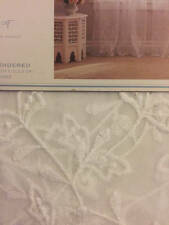 """Simply Shabby Chic Lily Scalloped Curtain Panel (54""""x84"""") New White Sheer"""