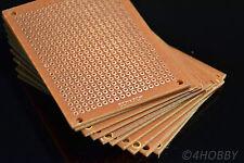 10x Lochrasterplatine 5x7cm Lochraster Platine Lötplatine Leiterplatte Prototyp