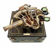 J.Scott London Brass Sextant w/Box Nautical Maritime Gift Navigational