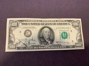 1969A $100 Star Note with low serial number from the Phila. Federal Reserve