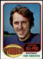 FRAN TARKENTON 1976 TOPPS FOOTBALL #500 CARD...BUY 20/SPEND $30 GET FREE SH!!!