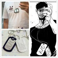 Anime Gangsta Nicolas Brown HOT Cosplay A/0 Mercenary Dog Tag Necklace Pedant