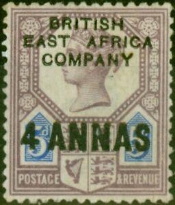 B.E.A. KUT 1890 4a on 5d Dull Purple & Blue SG3 Fine Very Lightly Mtd Mint