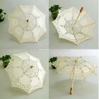 Chic Handmade Cotton Lace Parasol Umbrella Party Wedding Bridal Decoration th1u