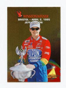 Jeff Gordon 1995 95 Zenith Winston Winners All Gold Foil Insert Card #6 Pinnacle