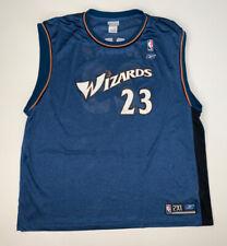 Vintage Reebok Michael Jordan Washington Wizards Blue Jersey Size 2XL