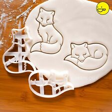 2 Fox cookie cutters | animal enchanted forest woodland creatures whimsical