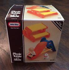 BRAND NEW Vtg 1989 Little Tikes Dollhouse Picnic Table & Slide in Box