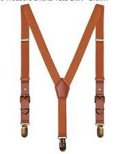 Kids Retro Braces 3 Clips Y Shape Classic Suspenders for Boys Girls / Brown