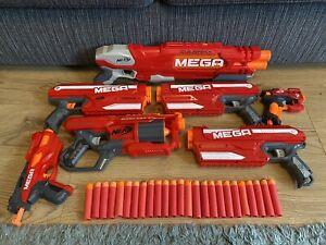 NERF MEGA 7 GUN BUNDLE Doublebreach Cycloneshock 3x Magnus Bigshock & Hotshock