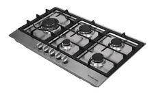 Russel Hobbs RH75GH601SS Wide 5 Burner Gas Hob, 75 Cm, Stainless Steel