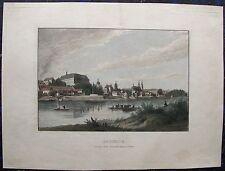 Roudnice nad Labem, Raudnitz, CESKO Tschechische Republik. Kolor.Stahlstich 1850